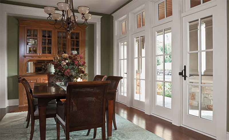 Hinged Patio Door Installation for the Dining Area